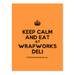 [Crown] keep calm and eat at wrapworks deli  Postcards