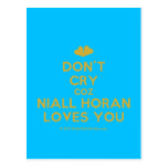 [Two hearts] don't cry coz niall horan loves you  Postcards