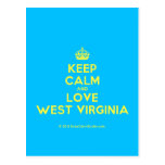 [Crown] keep calm and love west virginia  Postcards