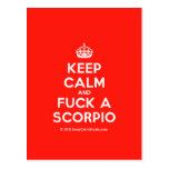 [Crown] keep calm and fuck a scorpio  Postcards