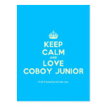 [Crown] keep calm and love coboy junior  Postcards