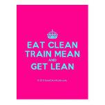 [Crown] eat clean train mean and get lean  Postcards