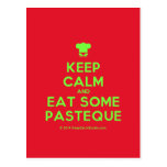 [Chef hat] keep calm and eat some pasteque  Postcards