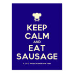 [Chef hat] keep calm and eat sausage  Postcards
