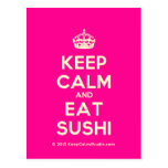 [Crown] keep calm and eat sushi  Postcards