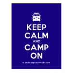 [Campervan] keep calm and camp on  Postcards