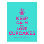[Cupcake] keep calm and love cupcakes  Postcards