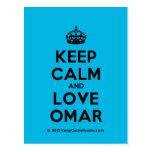[Crown] keep calm and love omar  Postcards