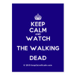 [Crown] keep calm and watch the walking dead  Postcards