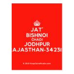 [Crown] jat' bishnoi chadi jodhpur rajasthan-342312  Postcards