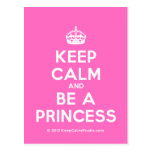 [Crown] keep calm and be a princess  Postcards