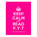 [Crown] keep calm and read p.y.t  Postcards