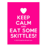[Love heart] keep calm and eat some skittles!  Postcards
