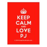 [Crown] keep calm and love pj  Postcards