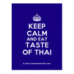 [Crown] keep calm and eat taste of thai  Postcards