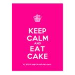 [Cupcake] keep calm and eat cake  Postcards