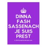 [Crown] dinna fash sassenach je suis prest  Postcards