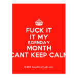 [Crown] fuck it it my bornday month cant keep calm  Postcards