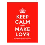 [Crown] keep calm and make lovr  Postcards