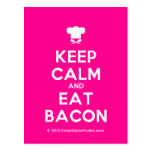 [Chef hat] keep calm and eat bacon  Postcards
