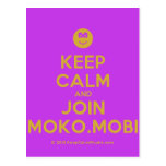 [Smile] keep calm and join moko.mobi  Postcards