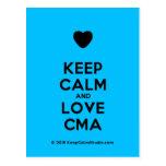 [Love heart] keep calm and love cma  Postcards