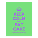 [Crown] keep calm and eat cake  Postcards