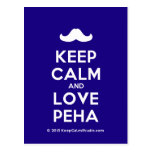 [Moustache] keep calm and love peha  Postcards
