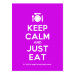 [Cutlery and plate] keep calm and just eat  Postcards