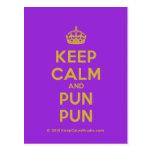 [Crown] keep calm and pun pun  Postcards