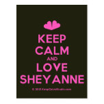 [Two hearts] keep calm and love sheyanne  Postcards