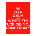 [Crown] keep calm and where the fuck did you come from?!  Postcards