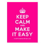 [Crown] keep calm and make it easy  Postcards
