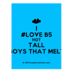 [Two hearts] i #love b5 hot tall boys that melt  Postcards