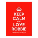 [Crown] keep calm and love robbie  Postcards