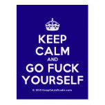 [Crown] keep calm and go fuck yourself  Postcards