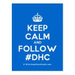[Crown] keep calm and follow #dhc  Postcards