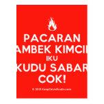 [Campfire] pacaran ambek kimcil iku kudu sabar cok!  Postcards