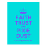 [Knitting crown] faith trust and pixie dust  Postcards