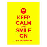 [Smile] keep calm and smile on  Postcards