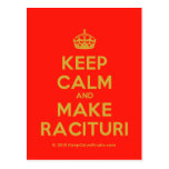 [Crown] keep calm and make racituri  Postcards