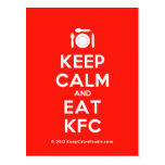 [Cutlery and plate] keep calm and eat kfc  Postcards