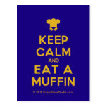 [Chef hat] keep calm and eat a muffin  Postcards