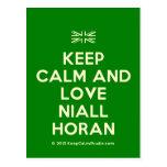 [UK Flag] keep calm and love niall horan  Postcards