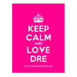 [Crown] keep calm and love dre  Postcards