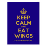 [Crown] keep calm and eat wings  Postcards