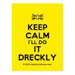 [UK Flag] keep calm i'll do it dreckly  Postcards