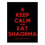 [Campfire] keep calm and eat shaorma  Postcards