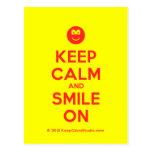 [Smile] keep calm and smile on  Postcards