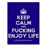 [Crown] keep calm and fucking enjoy life  Postcards